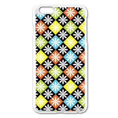 Diamond Argyle Pattern Colorful Diamonds On Argyle Style Apple Iphone 6 Plus/6s Plus Enamel White Case by Simbadda