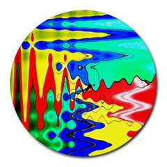Bright Colours Abstract Round Mousepads by Simbadda