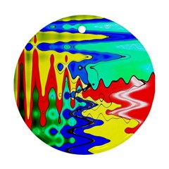 Bright Colours Abstract Ornament (round)