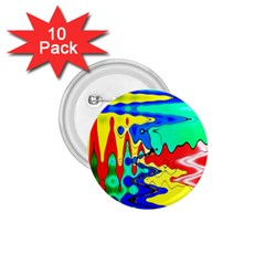 Bright Colours Abstract 1 75  Buttons (10 Pack) by Simbadda