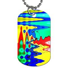 Bright Colours Abstract Dog Tag (two Sides) by Simbadda