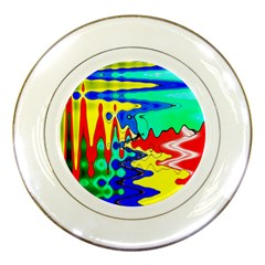 Bright Colours Abstract Porcelain Plates by Simbadda