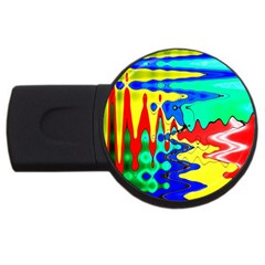 Bright Colours Abstract Usb Flash Drive Round (4 Gb) by Simbadda
