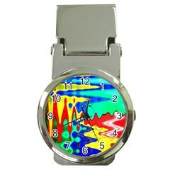 Bright Colours Abstract Money Clip Watches by Simbadda