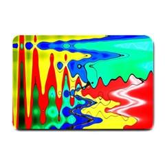 Bright Colours Abstract Small Doormat  by Simbadda