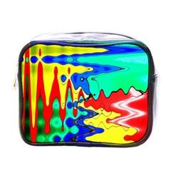 Bright Colours Abstract Mini Toiletries Bags by Simbadda