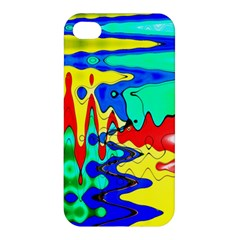 Bright Colours Abstract Apple Iphone 4/4s Premium Hardshell Case by Simbadda