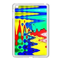 Bright Colours Abstract Apple Ipad Mini Case (white) by Simbadda