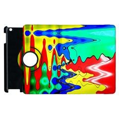 Bright Colours Abstract Apple Ipad 3/4 Flip 360 Case by Simbadda