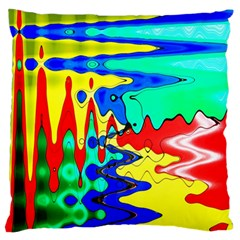 Bright Colours Abstract Standard Flano Cushion Case (one Side) by Simbadda