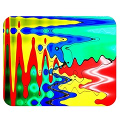 Bright Colours Abstract Double Sided Flano Blanket (medium)  by Simbadda