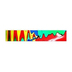 Bright Colours Abstract Flano Scarf (mini) by Simbadda