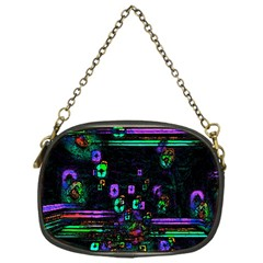 Digital Painting Colorful Colors Light Chain Purses (one Side)  by Simbadda
