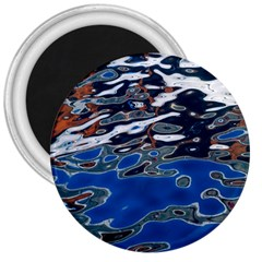 Colorful Reflections In Water 3  Magnets by Simbadda