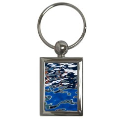 Colorful Reflections In Water Key Chains (rectangle)  by Simbadda