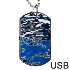 Colorful Reflections In Water Dog Tag Usb Flash (one Side) by Simbadda