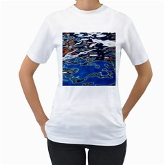 Colorful Reflections In Water Women s T Shirt (white)
