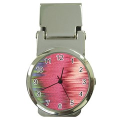 Rectangle Abstract Background In Pink Hues Money Clip Watches by Simbadda