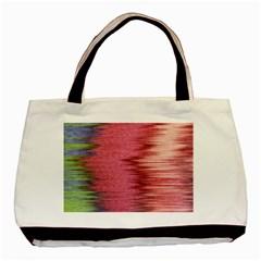 Rectangle Abstract Background In Pink Hues Basic Tote Bag by Simbadda