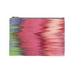 Rectangle Abstract Background In Pink Hues Cosmetic Bag (large)  by Simbadda