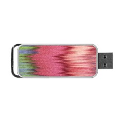 Rectangle Abstract Background In Pink Hues Portable Usb Flash (one Side) by Simbadda
