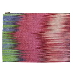 Rectangle Abstract Background In Pink Hues Cosmetic Bag (xxl)  by Simbadda