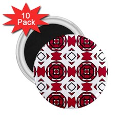 Seamless Abstract Pattern With Red Elements Background 2 25  Magnets (10 Pack)