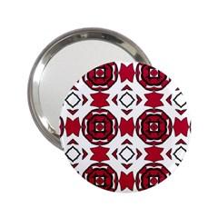 Seamless Abstract Pattern With Red Elements Background 2 25  Handbag Mirrors by Simbadda
