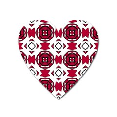 Seamless Abstract Pattern With Red Elements Background Heart Magnet by Simbadda
