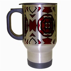 Seamless Abstract Pattern With Red Elements Background Travel Mug (silver Gray) by Simbadda