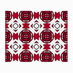Seamless Abstract Pattern With Red Elements Background Small Glasses Cloth (2 Side) by Simbadda