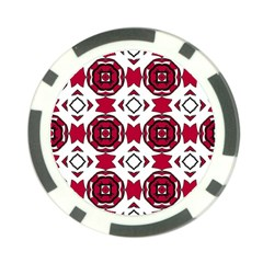 Seamless Abstract Pattern With Red Elements Background Poker Chip Card Guard by Simbadda