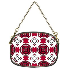 Seamless Abstract Pattern With Red Elements Background Chain Purses (two Sides)  by Simbadda