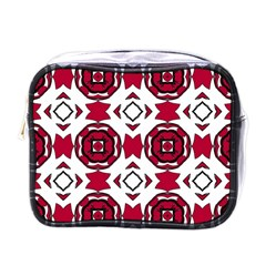 Seamless Abstract Pattern With Red Elements Background Mini Toiletries Bags by Simbadda