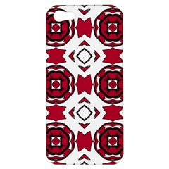 Seamless Abstract Pattern With Red Elements Background Apple Iphone 5 Hardshell Case by Simbadda