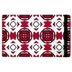 Seamless Abstract Pattern With Red Elements Background Apple Ipad 3/4 Flip Case by Simbadda