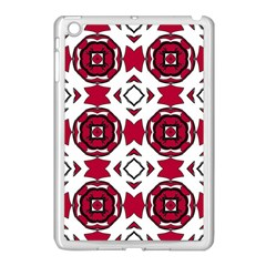 Seamless Abstract Pattern With Red Elements Background Apple Ipad Mini Case (white) by Simbadda