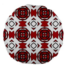 Seamless Abstract Pattern With Red Elements Background Large 18  Premium Round Cushions by Simbadda