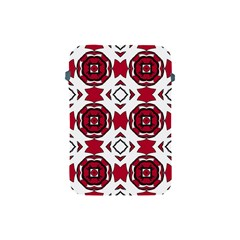 Seamless Abstract Pattern With Red Elements Background Apple Ipad Mini Protective Soft Cases by Simbadda