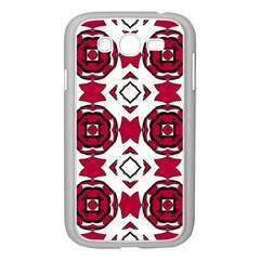 Seamless Abstract Pattern With Red Elements Background Samsung Galaxy Grand Duos I9082 Case (white) by Simbadda