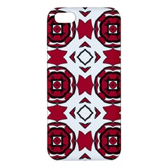 Seamless Abstract Pattern With Red Elements Background Iphone 5s/ Se Premium Hardshell Case by Simbadda