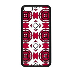 Seamless Abstract Pattern With Red Elements Background Apple Iphone 5c Seamless Case (black) by Simbadda