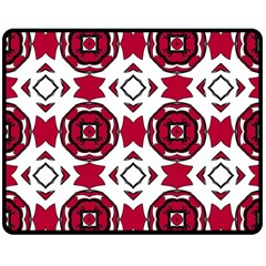 Seamless Abstract Pattern With Red Elements Background Double Sided Fleece Blanket (medium)