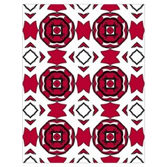 Seamless Abstract Pattern With Red Elements Background Drawstring Bag (large) by Simbadda