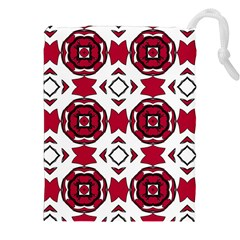 Seamless Abstract Pattern With Red Elements Background Drawstring Pouches (xxl) by Simbadda