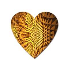 Patterned Wallpapers Heart Magnet by Simbadda