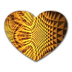 Patterned Wallpapers Heart Mousepads by Simbadda