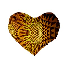 Patterned Wallpapers Standard 16  Premium Flano Heart Shape Cushions by Simbadda