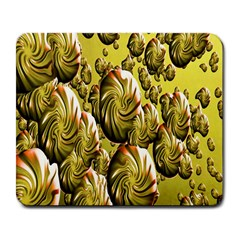 Melting Gold Drops Brighten Version Abstract Pattern Revised Edition Large Mousepads by Simbadda