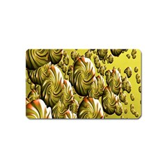Melting Gold Drops Brighten Version Abstract Pattern Revised Edition Magnet (name Card) by Simbadda